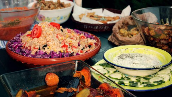 rich vegetarian dinner surf lodge portugal