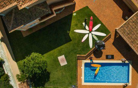 large chilly garden pool surf lodge santa cruz
