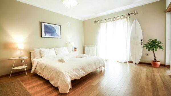 large double bed suite surfcamp santa cruz