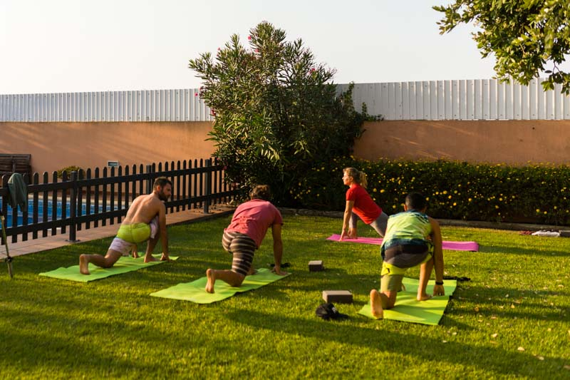 surf camp portugal enjoy yoga session