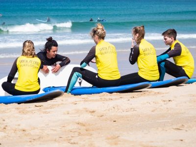 lesson beach surf spot portugal