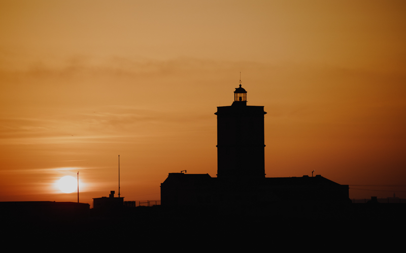 peniche light house sunset